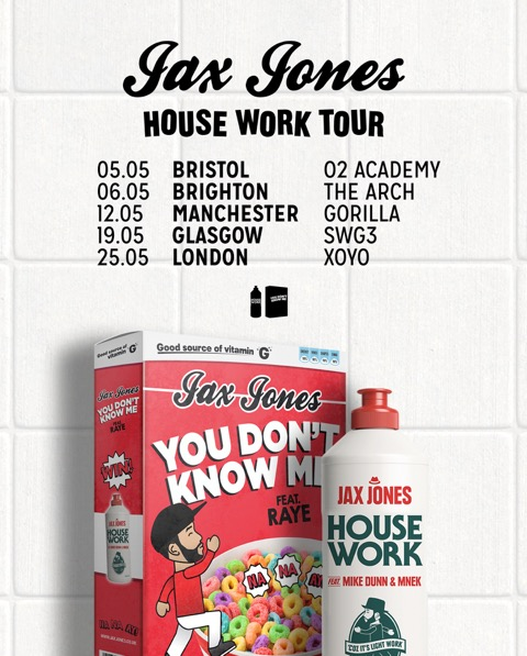 Jax Jones House Work Tour 2017